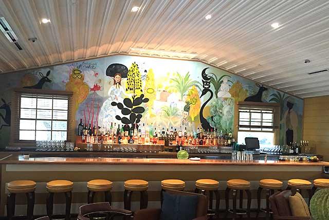 The bar at Sam's Social Club