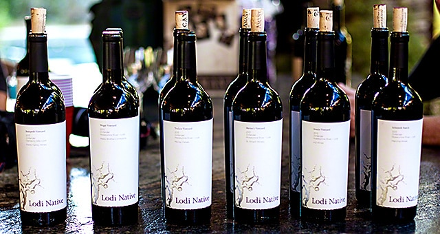 The six Lodi Native wines
