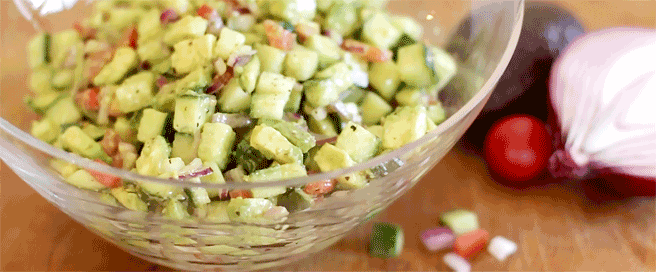 Larry's Avocado Cucumber Salad
