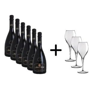 "Box 6 bottiglie Trento DOC Extra Brut ""Abate Nero"""