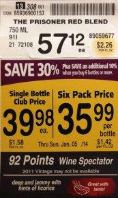 Wine Discounts – Pavilions Price Tag