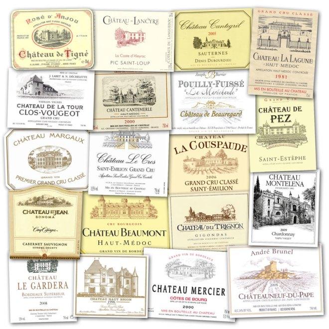 Wine Label Clichés – The Châteaux