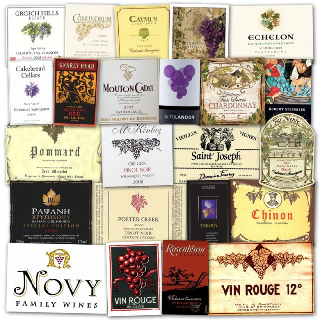 Wine Label Clichés – Grapes & Vines