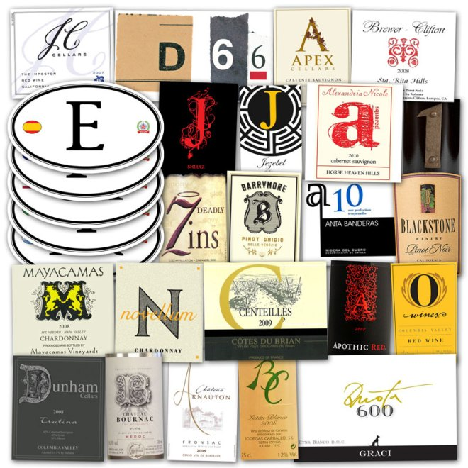 Wine Label Clichés – Letters & Numbers