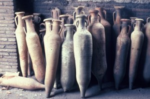 In ancient Rome, amphorae were used instead of glass wine bottles, Until they developed the technique of glassblowing, which was used to make wine bottles.