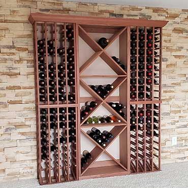 custom wall wine racks storage