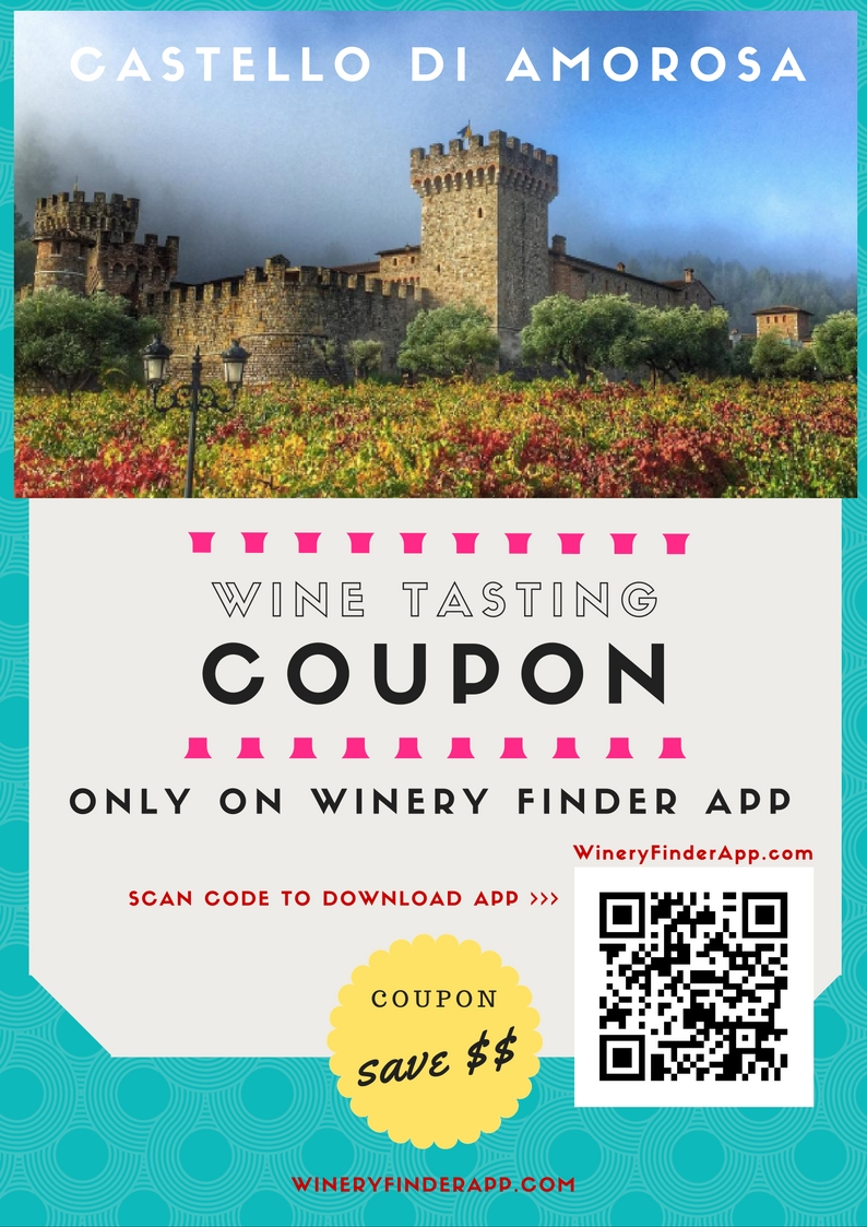 Castello di Amorosa Napa Valley Castle Winery NEW Wine Tasting Tour Discount Coupon Deal