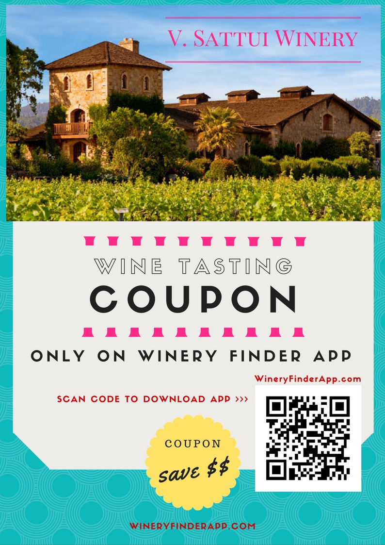 V. Sattui Winery NEW Wine Tasting Discount Coupon Deal for marketplace