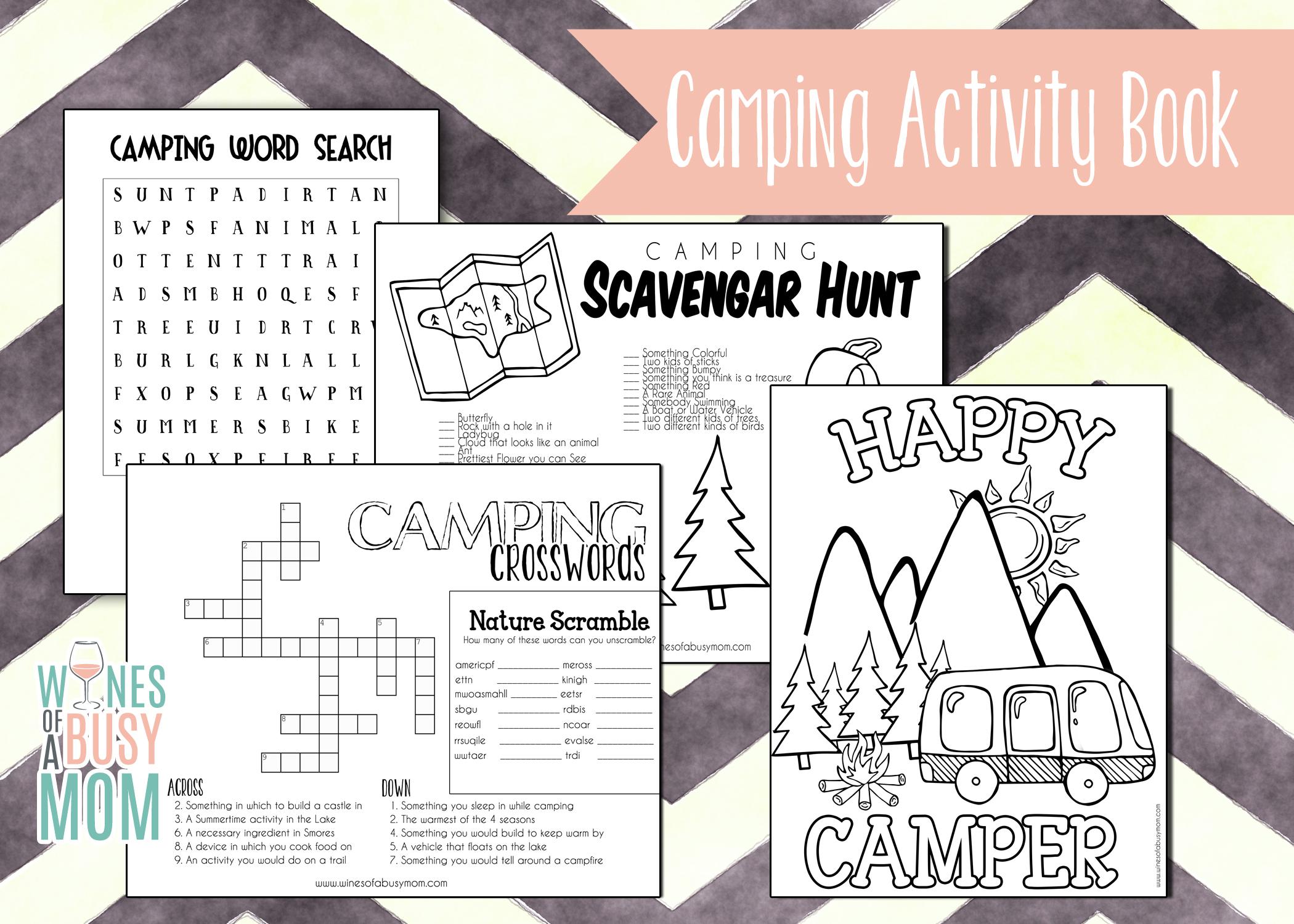 Free Printable Camping Activity Book