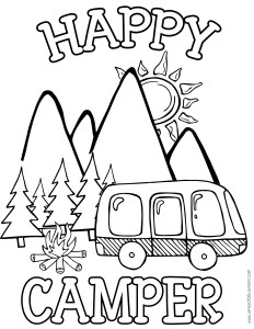 free happy camper coloring pages   Free Printable Camping Activity Book