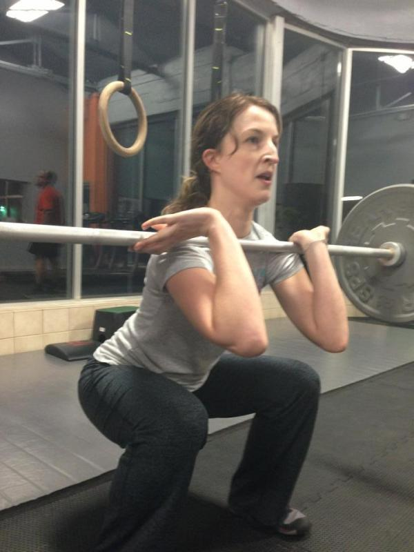 jennifer hudy front squat