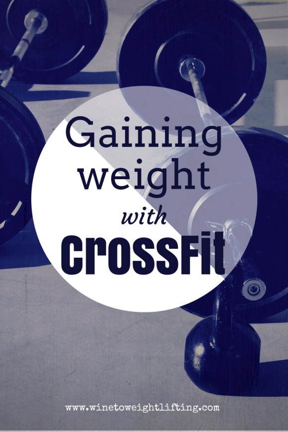 Gaining weight with Crossfit. As you get stronger, know that your weight may go up and that is okay. Focus on what your body has the ability to do rather than the number on the scale. For more crossfit posts, check out @winetoweights blog at www.winetoweightlifting.com