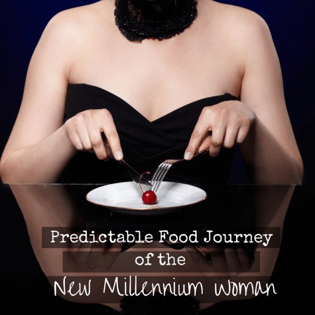 """Predictable food journey of a new millennium woman:   We all usually start and end at the same place, but the steps in between might be a bit different. Stage 1: Low-Fat Cardio Queen Stage 2: Eat All The Things Stage 3: Gaining All the Weight Stage 4: Clean it up with Paleo.. to the Extreme Stage 5: Bring Back the Carbs! Stage 6: """"Diet"""" Nirvana  #paleo #eattoperform #eatclean #healthyliving"""
