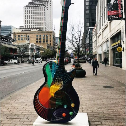 Street Art Austin - Gibson Guitartown