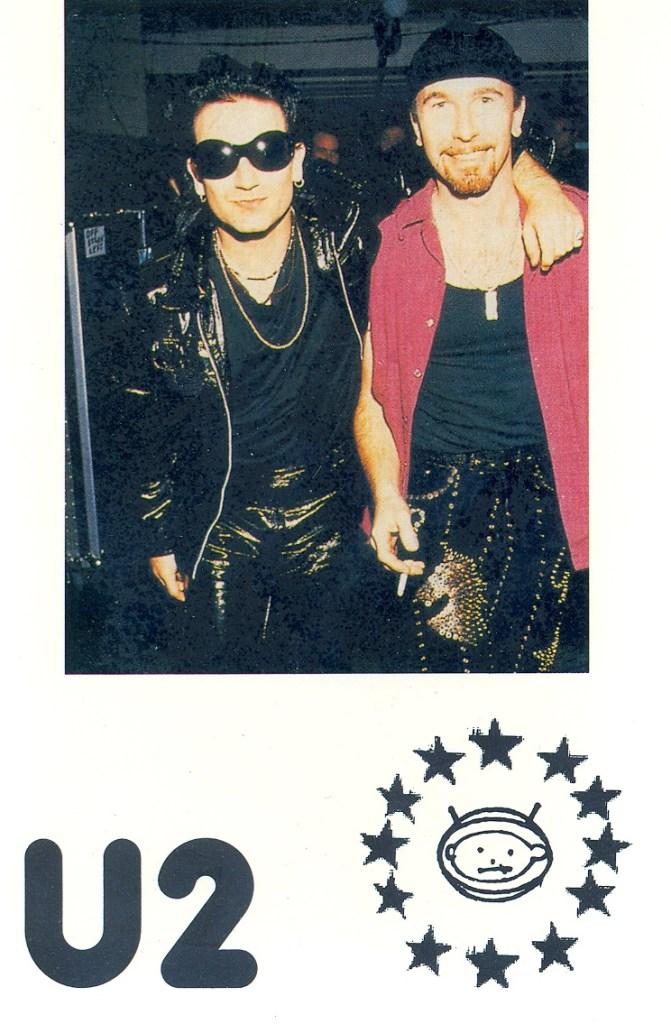 U2 Zoo TV Bono and The Edge