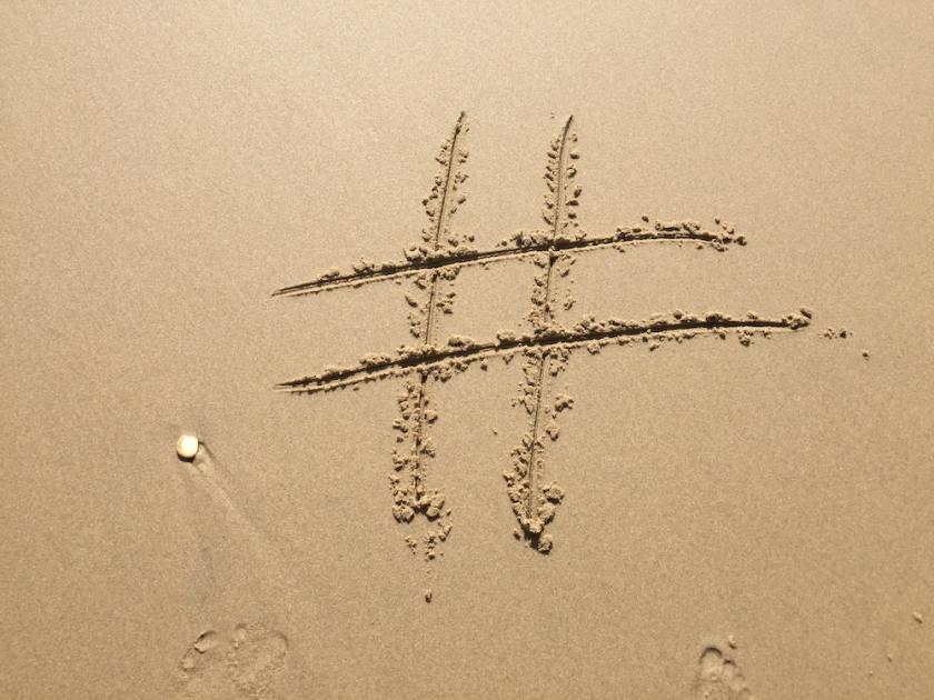 Beach Travel Hashtag