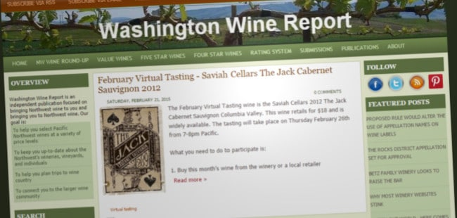 Washington Wine Report