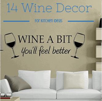 14 Wine Décor For Kitchen Ideas - Wine Turtle