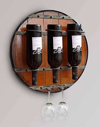 welland round hanging wine rack