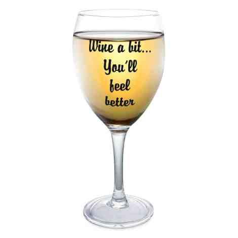 Kovot funny wine glass