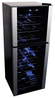 Koolatron 45 Bottle Dual Zone Wine Cellar