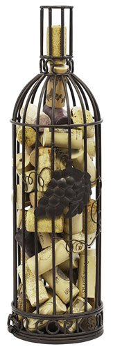 Grapevine Wine Bottle Shaped Cork Corral Holder