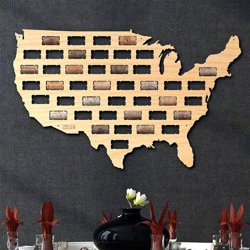 USA Wine Cork Map