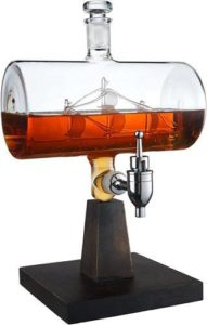 The Wine Savant Ship Decanter, Drink Dispenser for Wine