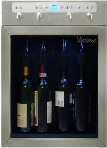 Vinotemp 4-Bottle Wine Dispenser, Stainless
