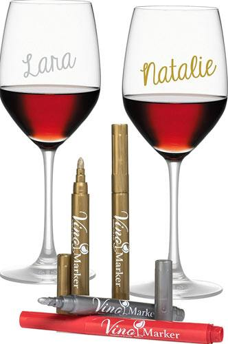 Vino Marker Metallic Wine Glass Washable Pens