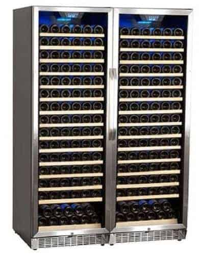 Edgestar 332 Bottle Built-In Side-by-Side Wine Cellar