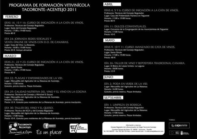 cartel aula formación Tacoronte-Acentejo 2011