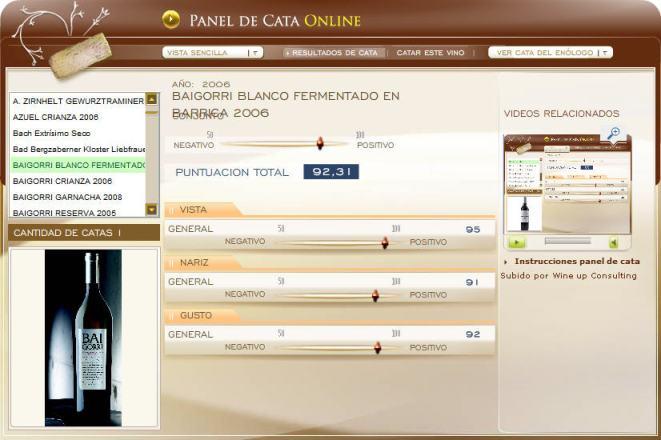 panel de cata baigorri blanco fb