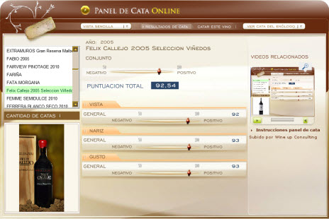 FELIX CALLEJO 2005 SELECCION - 92.54 PUNTOS EN WWW.ECATAS.COM POR JOAQUIN PARRA WINE UP