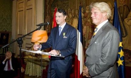 Pau Roca, Secretario General de la FEV y Bruno Delaye, Embajador de Francia en España