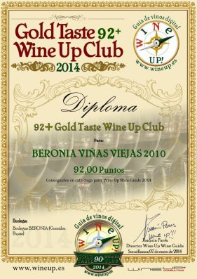 BERONIA GB 175.gold.taste.wine.up.club