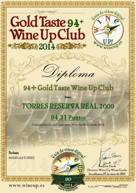 BODEGAS TORRES RESERVA REAL 09.gold.taste.wine.up.club