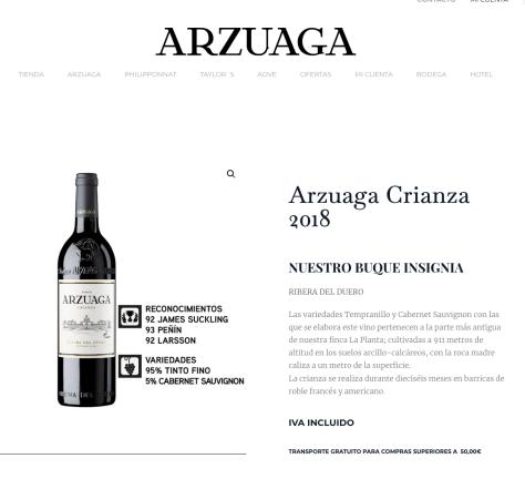 Tienda online Bodegas Arzuaga 2