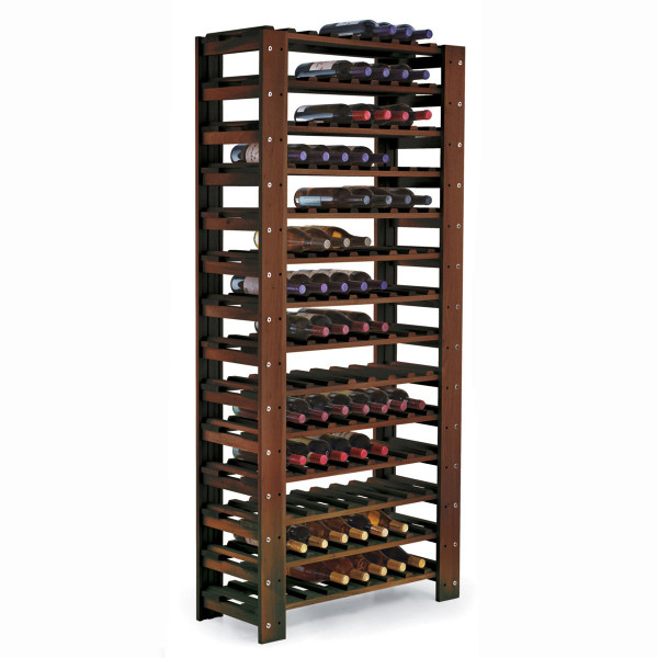 swedish pine 126 bottle wine rack walnut
