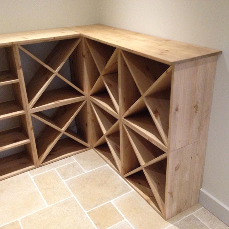 pine wooden wine rack cellar cubes