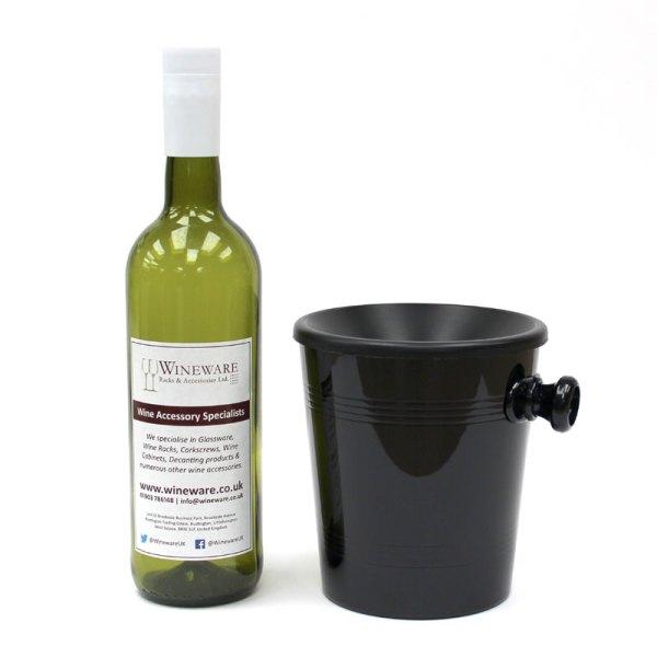 Mini Individual Black Plastic Wine Spittoon 1l