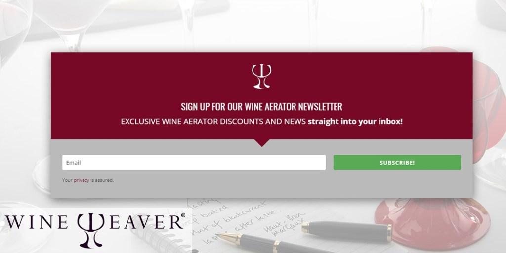 wine aerator discount vouchers post