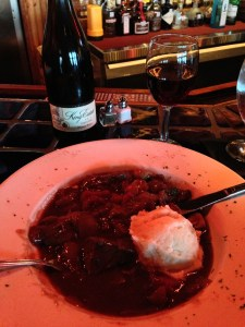 Beef Burgundy with King Estate Pinot Noir