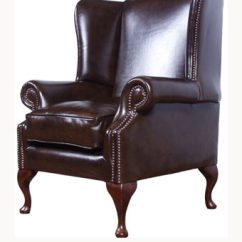 High Backed Chair Cover Aliexpress Back The Cavendish Leather By Wing Backchair