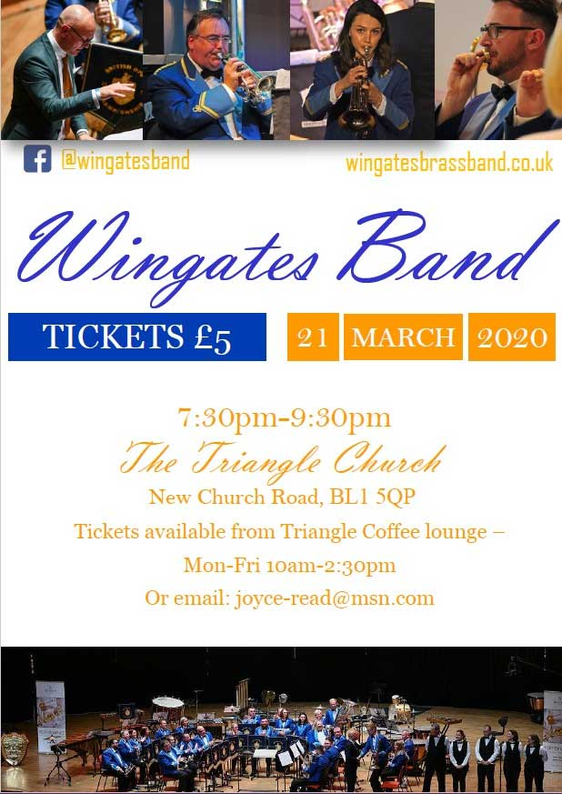Wingates Band appearing at the triangle church in Bolton 21st of March 2020