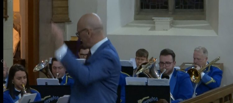 Wingates Band Plays Queen at Salesbury St Peter's Church