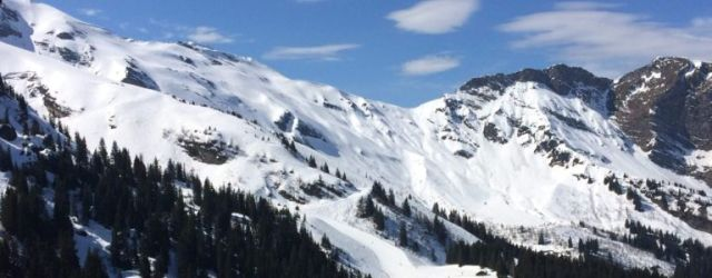 One of the many pros to working in a Ski Chalet: Look at that slope!