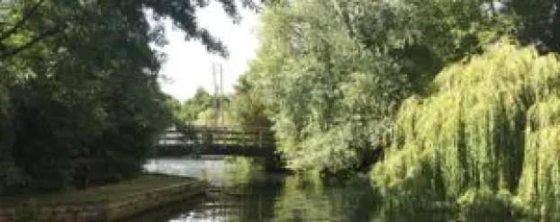 Bridge over the River at Wroxham Broads, Norfolk