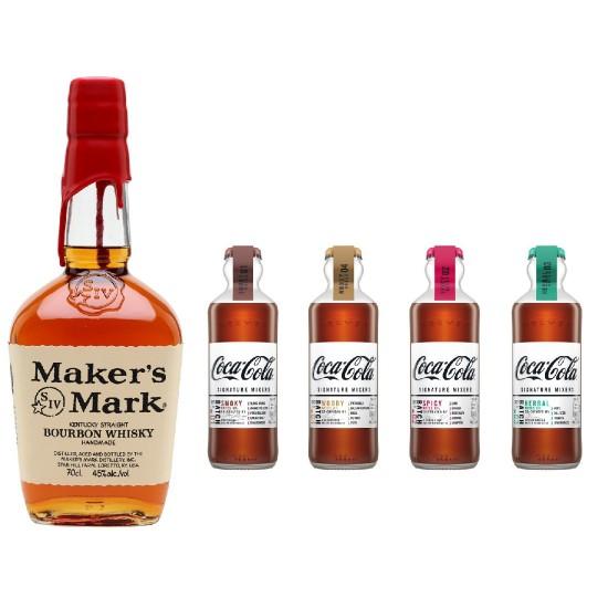 威士忌可樂調酒組 - 美格波本威士忌+復古調酒可樂禮盒