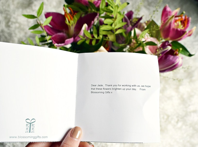 card message Blossoming Gifts www.wingitwithjade.com